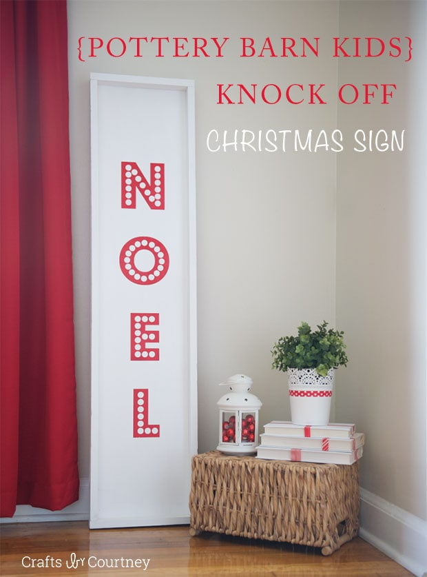 I'm officially decorating for Christmas…with a Pottery Barn knock off no doubt! Learn to make a DIY Noel sign with this perfect craft for your home decor.