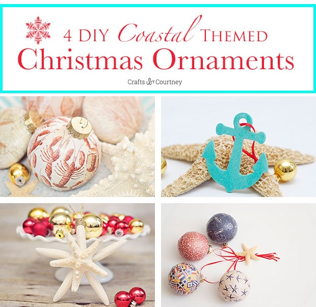 4 Easy DIY Coastal Themed Christmas Ornaments