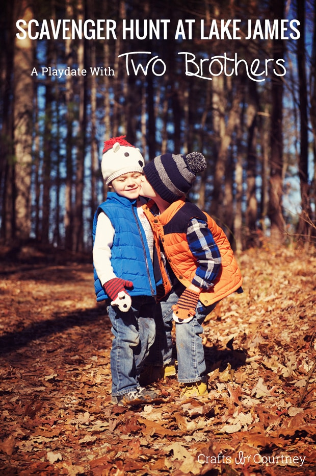 Brotherly Playdate at Lake James: A Nature Park Scavenger Hunt