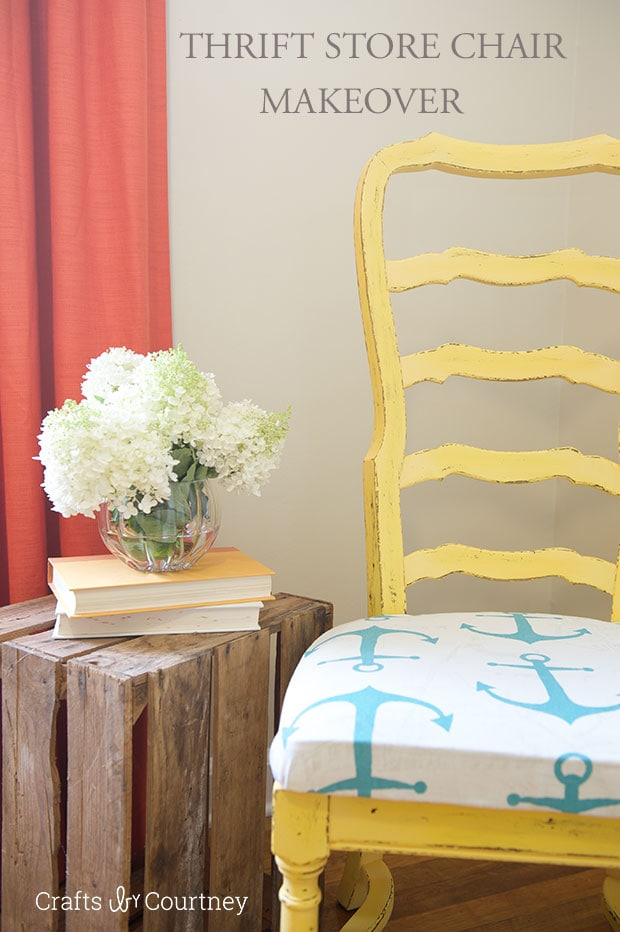 Nautical chair makeover