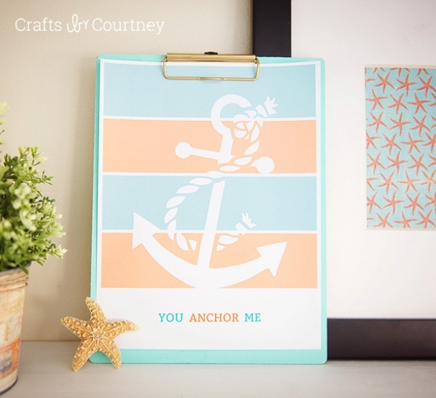 Free Printable – You Anchor Me Coastal Printable