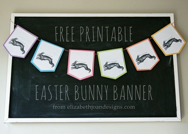 Free Printable: Easter Bunny Banner