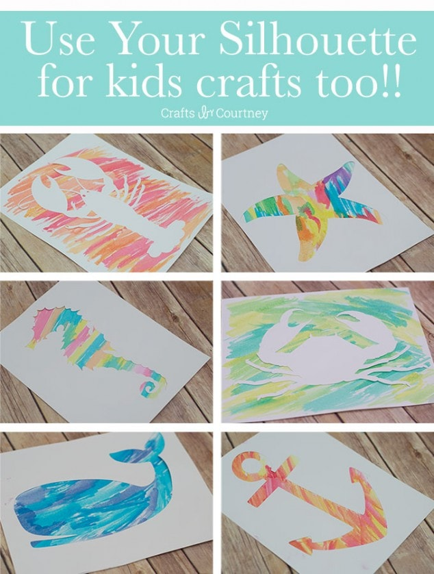 Silhouette Craft – Nautical Water Color Art