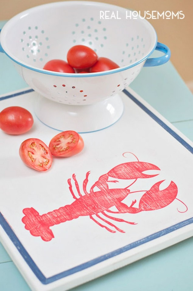 Cutting Board Makeover Nautical Style