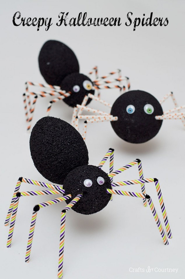 halloween craft creepy halloween spider craft