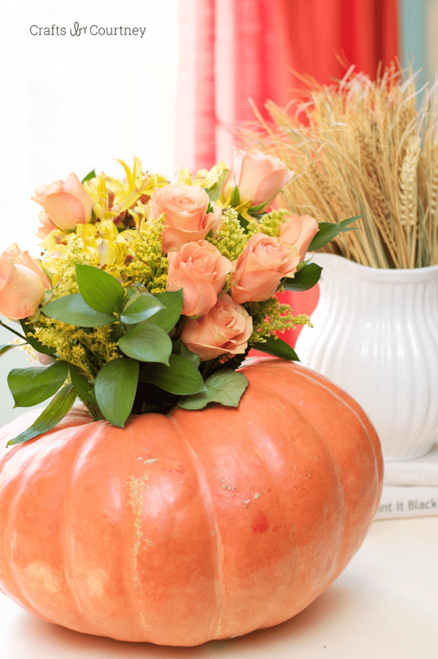 Pumpkin Fall Flower Arrangement
