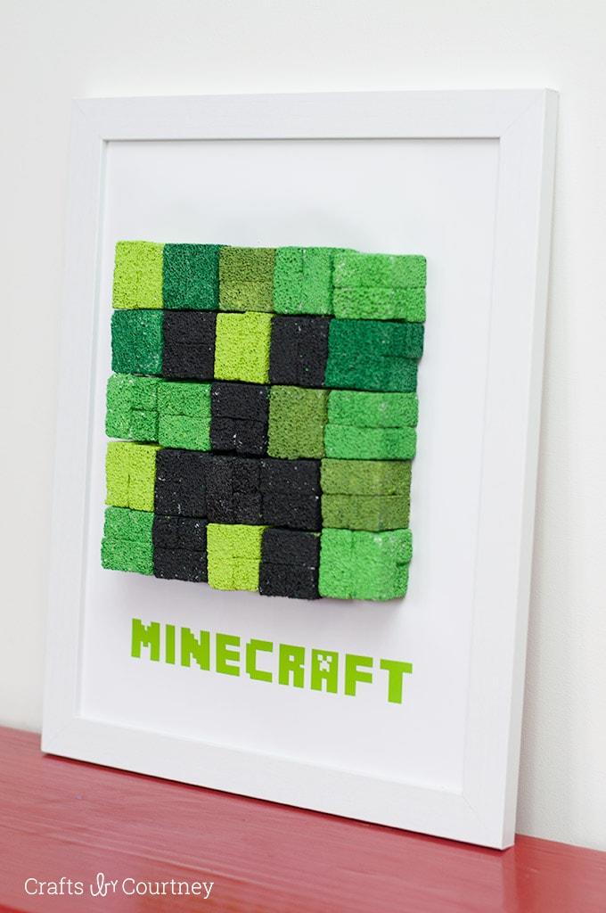 Diy Kids Wall Art Minecraft Creeper