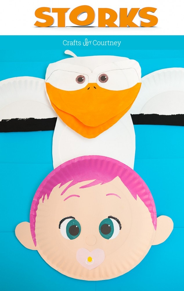 Paper Plate Craft inspired by the new movie Storks
