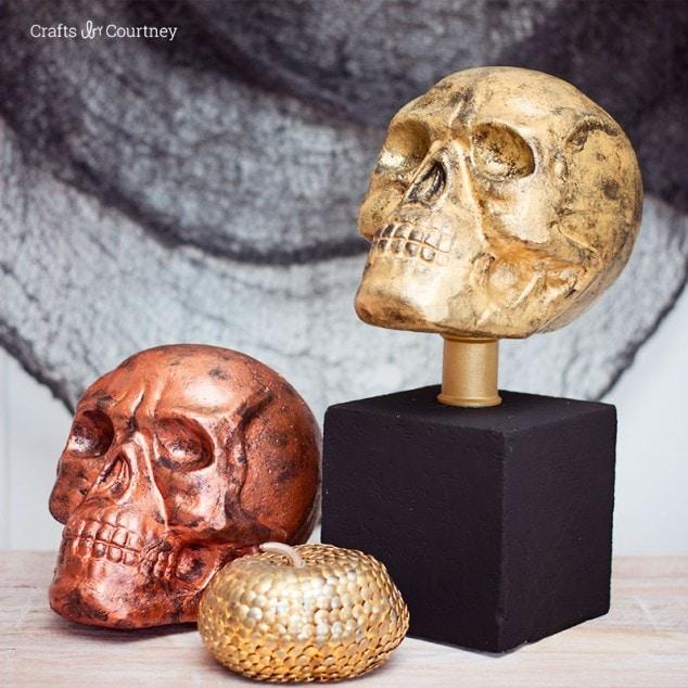 Pottery Barn Knockoff – Skull Halloween Craft
