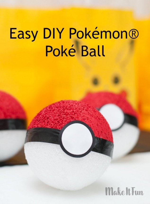 Easy DIY Pokémon Poké Balls
