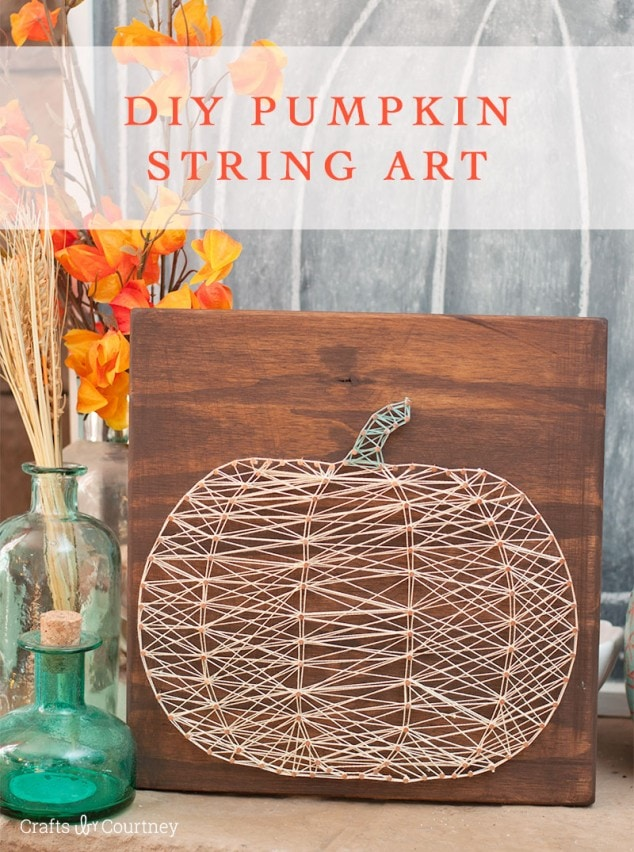 Diy Pumpkin String Art For Fall