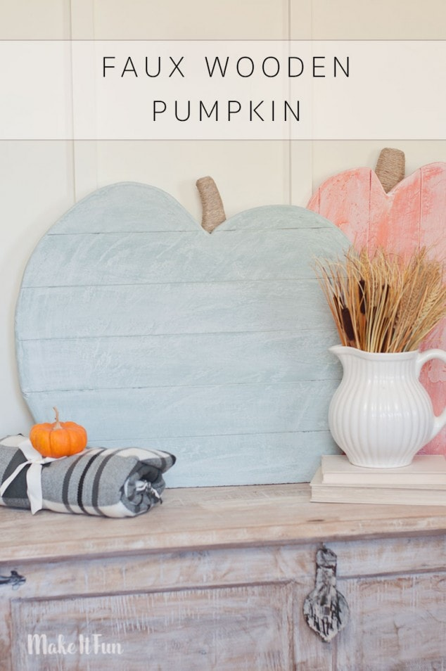 Love the look of large Wooden pumpkins but don't have the tools to make them? Then use some foam sheets! I made this faux wooden pumpkin craft in no time!