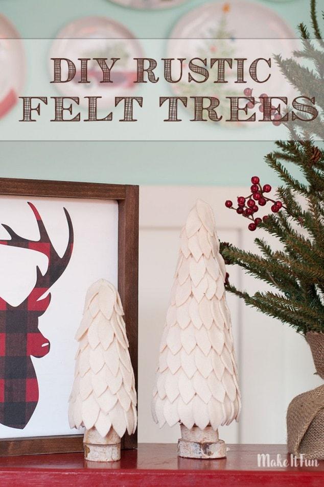 DIY Rustic Felt Christmas Trees – Christmas Decorations