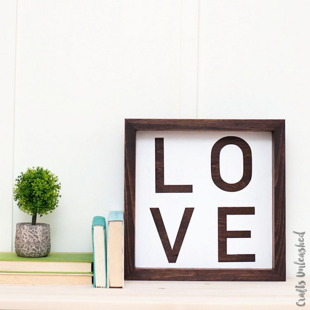 Farmhouse Style Inspired DIY LOVE Sign