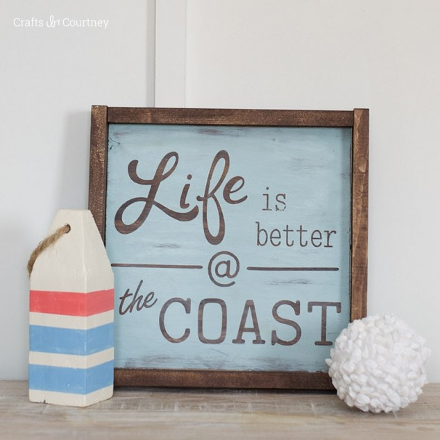 Create a beautiful DIY Wood Sign - Coastal Decor