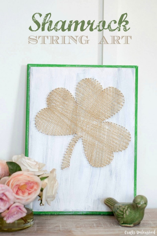 Shamrock String Art Decor