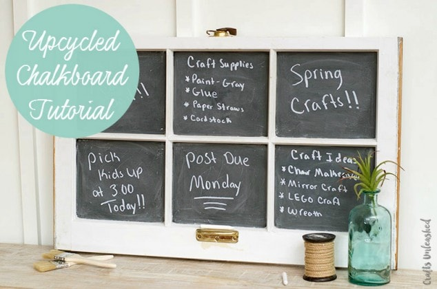 Make Your Own DIY Chalkboard from an old Window