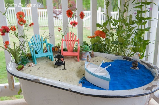 Coastal Style DIY Fairy Garden