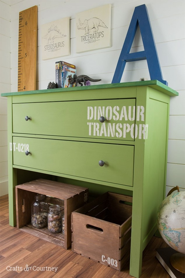 DIY Dresser Makeover – For a Boys Dino Room