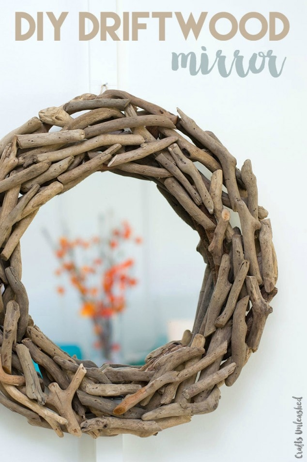 How to 5 Minute DIY Driftwood Wall Mirror