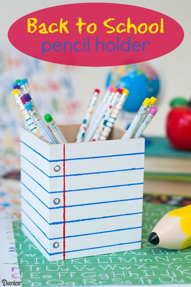 BACK TO SCHOOL PENCIL HOLDER