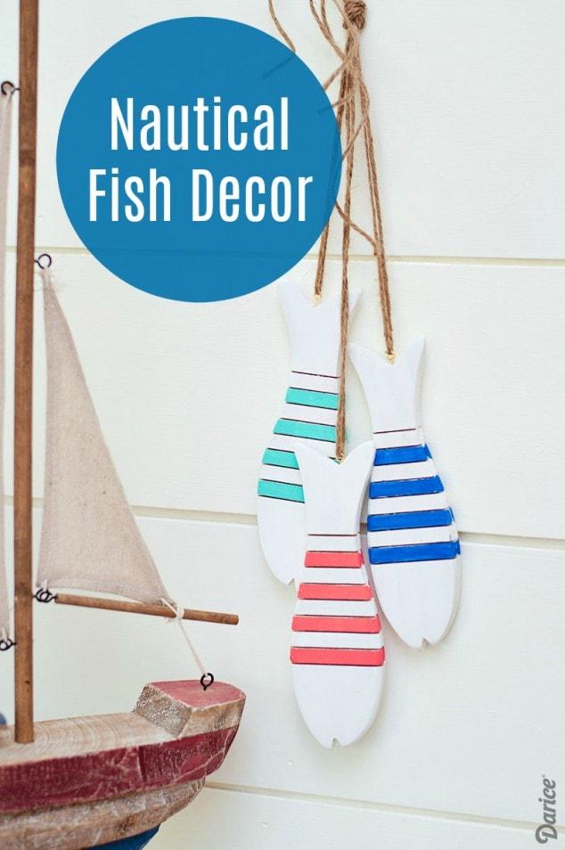 WOODEN FISH – DIY NAUTICAL DECOR