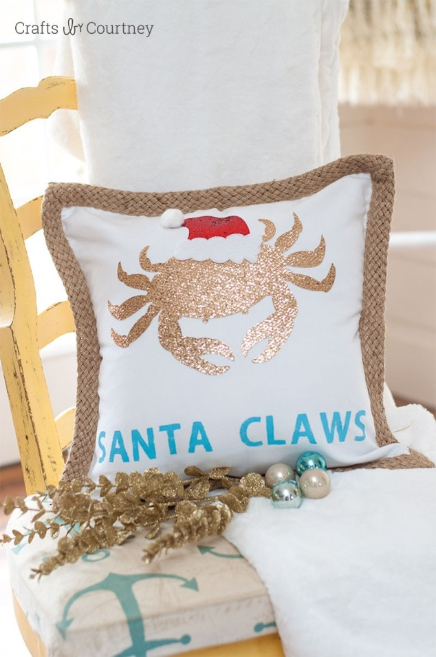Coastal DIY Pillow for Christmas