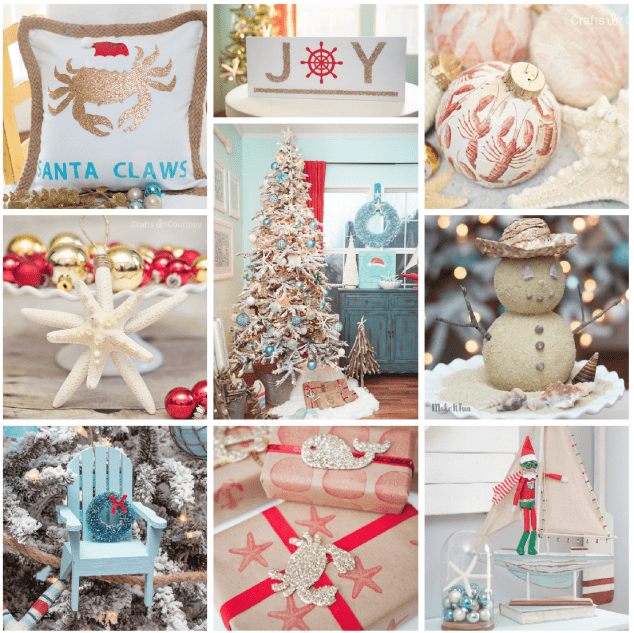 Over 17 DIY Coastal Christmas Ideas