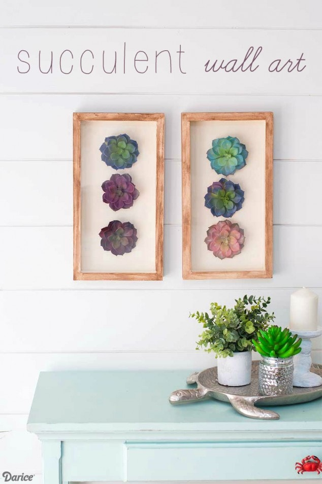 Easy to create Succulent Wall Art