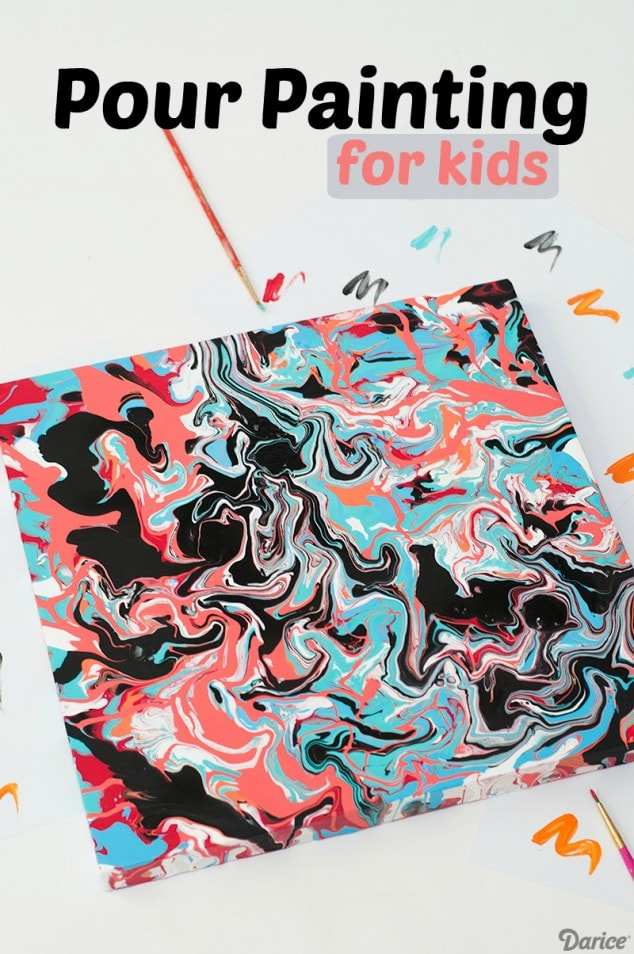 EASY POUR PAINTING ART FOR KIDS