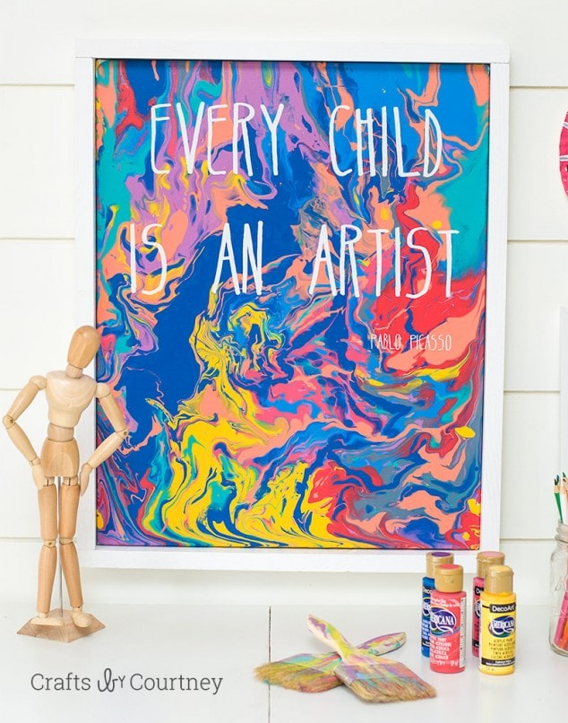 Kids Easy Pour Painting with DecoArt