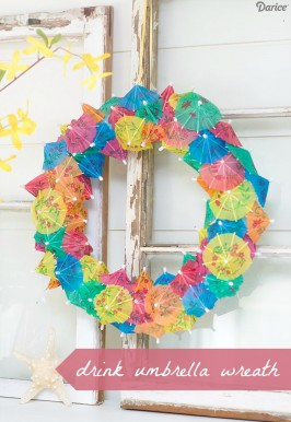 Simple DIY Umbrella Wreath