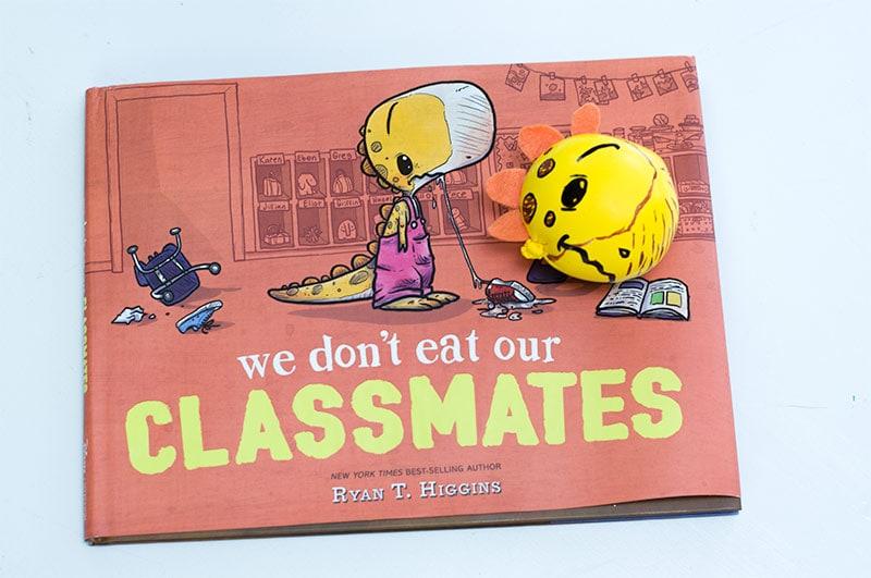 DIY Stress Ball - We Don't Eat Our Classmates Book