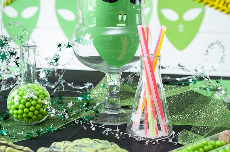 Halloween DIY Alien Party with Goblies