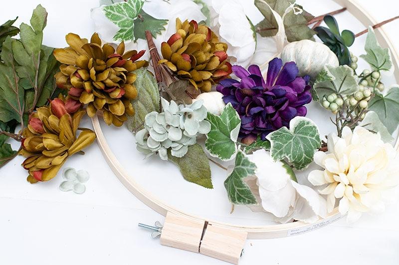 Coastal Embroidery Hoop Wreath Tutorial for Fall