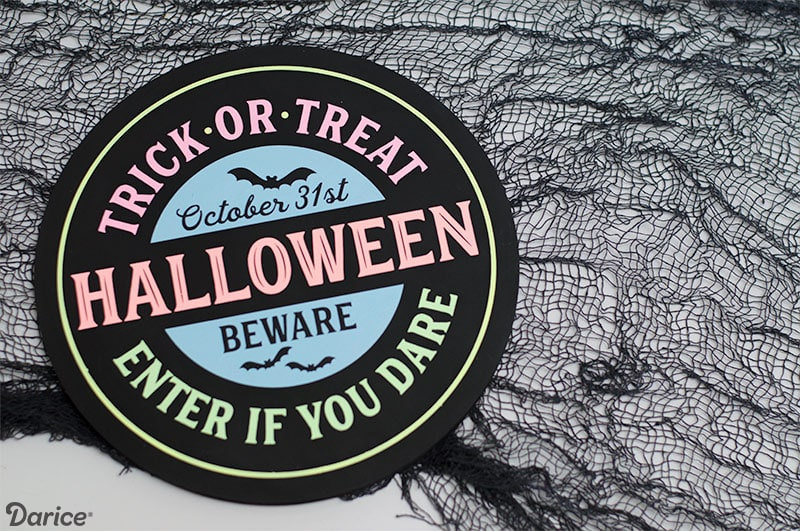 DIY Neon Halloween Sign - Goes perfect with your Halloween Decor