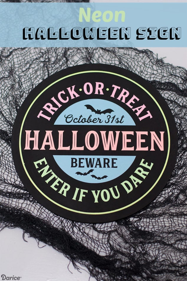 DIY Neon Halloween Sign