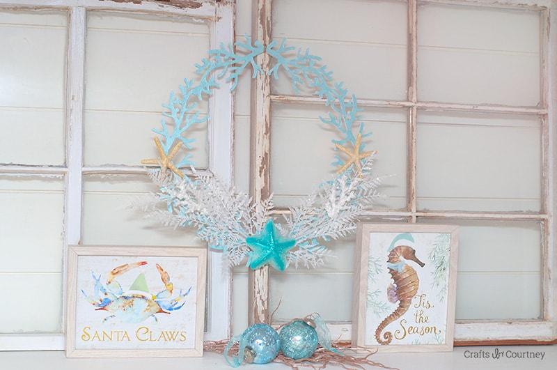 DIY Coastal Christmas Wreath