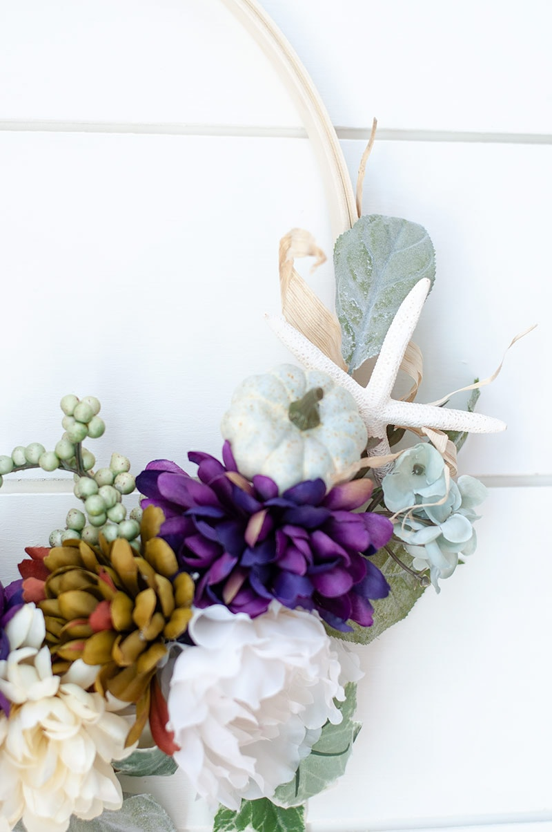 Do it yourself Embroidery Hoop Wreath Tutorial for Fall