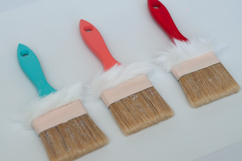 How to Make a Santa Paintbrush Ornament