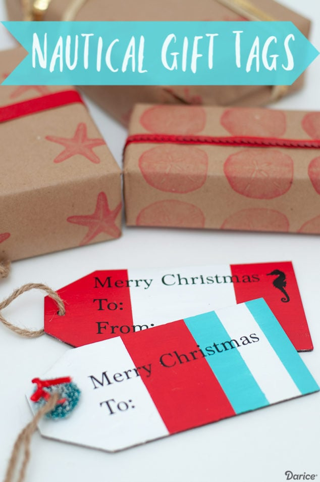 NAUTICAL STYLE DIY CHRISTMAS GIFT TAGS