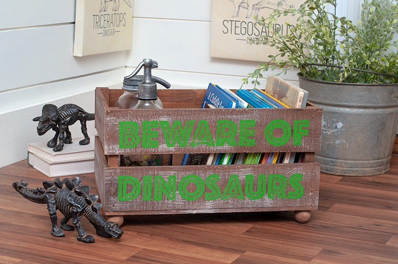 Dinosaur Room Crate Makeover