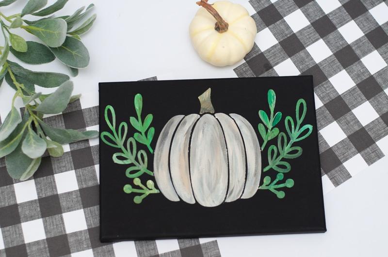 diy pumpkin art canvas tutorial - Darice 10
