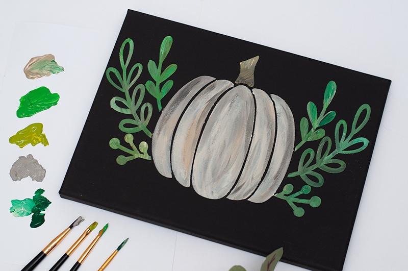 diy pumpkin art canvas tutorial - Darice 18